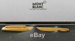 Montblanc Vermeil Orge Rollerball Pen Neuf Dans La Boîte Rare 163v Dans La Boîte Originale