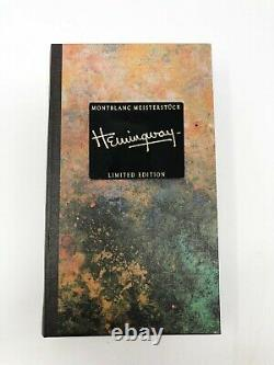 Montblanc Writers Edition Hemingway Fountain Pen Brand New In Box Sealed