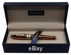 Montegrappa Merry Skull Copper Rollerball Pen Isfosrcu Nouveau Dans La Boîte