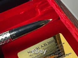 Namiki Jubilaeum Ad 2000 Lattice Ruthenium Fountain Pen 18k Med Nib Boxed Nouveau