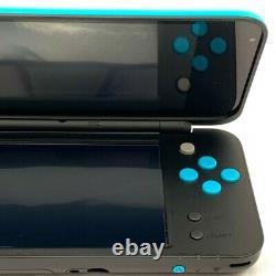 Nintendo Nouveau 2ds LL XL Black X Turquoise Console Avec Chargeur Sd Carte Stylo Box 84