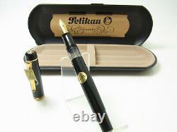 Nos Vintage Pelikan M250 Old Style Version Stylo Plume 14ct F Plume Dans La Boîte