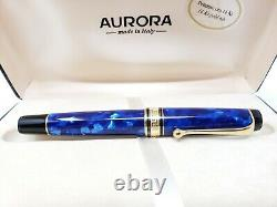 Nouveau Aurora Optima 996 Cobalt Blue Fountain Pen 14k Gold M Nib Nouveau Dans La Boîte