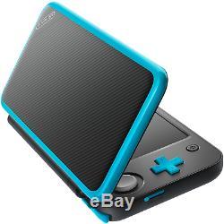 Nouveau Nintendo 2ds XL (noir + Turquoise) Avec Son Stylet Dans Sa Boîte D'origine