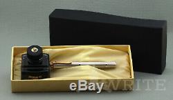 Nouveau! Stylo Plume Pelikan Souveran M 750 Jubilé D'argent Plaqué F Boîte Complète