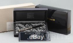Nouveau! Stylo Plume Pelikan Toledo En Argent Sterling M 910 F Nib Complete Box