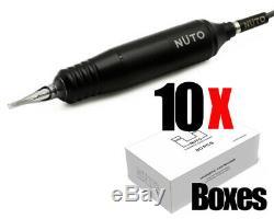 Nuto Tattoo Pen Machine & 10 Boîtes De Nuto Cartouches Aiguilles Magnétiques (200pcs)