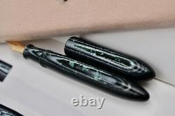 Oldwin Classic Mini (demi) Stylo De Fontaine Vert Arco Avec Boîte D'origine. 18k 750 Nib