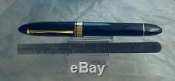 Omas 360 Magnum Fountain Pen, Jet Black, Gt, 18k M Nib, Oversize, Boîte Exc +