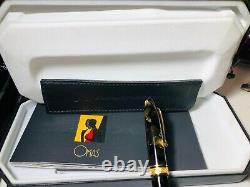 Omas Arte Italien Paragon Or 18k Nib Funtaun Stylo Nouvelle Marque En Boîte Avec Papier