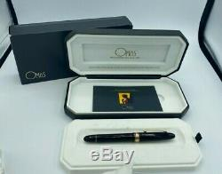 Omas Ogiva Grand 5.8 Fountain Pen 14k Med Nib Boxed