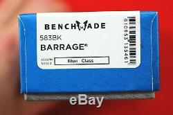 Osborne Barrage Design Benchmade, Axis Assist 154cm Couteau, Neuf Dans La Boîte