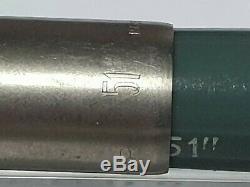 Parker 51 Non Encré Aerometric Marine Gris Chalk Marks Lustaloy Cap Box Monnaie
