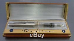 Parker 51 Vacumatic 1948 Démonstrateur Non Encré Lustraloy Cap Box Monnaie