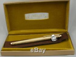 Parker 75 18kt Gold Filled Arc-en-fontaine Pen Mint Box 1970, Inutilisé