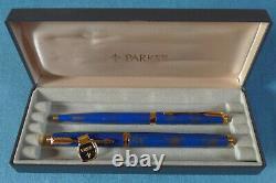 Parker 75 Lapis Gold-dust Finish, Stylo Plume Et Ballpoint Set, Menthe, Boîte