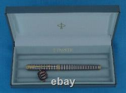 Parker 75 Premier Fountain Pen, En Argent Sterling Ciselé, Nouveau Dans La Boîte, Belle