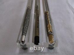 Parker 75 Sterling Classique Stylo À Bille En Argent &. 5 Set De Crayon Neuf En Boîte USA