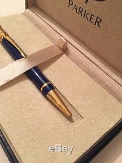 Parker Duofold Lapis Lazuli Historique Gt Pen-france-cadeau Box Neuf