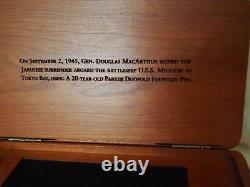 Parker Duofold Macarthur Fountain Pen Edition Limitée Nouveauté En Boîte 574/ 1945