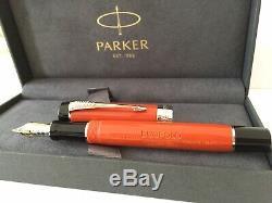 Parker Duofold Orange Burst Pen Big Vintage Fountain Pen Nouveau Avec La Boîte