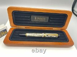 Parker Duofold Se Black & Pearl Fountain Pen International 18k Fine Nib Nm Boxed