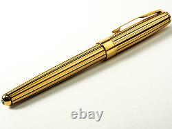 Parker Sonnet Rollerball Pen 23kt Gold & Black Striped Athens Nouveau Dans La Boîte