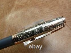 Parker Sonnet Stratum Special Edition Fountain Pen 18k Nib Moyen Nouveau Dans La Boîte