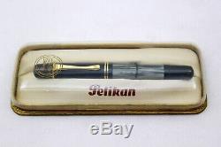 Pelikan 100n Drp-fontaine Pen-gris Marbré Celluloïd 14k Nib-1940-neuf Dans La Boîte