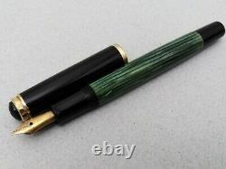 Pelikan 400 Fountain Pen Gold Ef 14k Flex Nib Vintage En Boîte Et Papier Rare