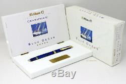Pelikan Blue Ocean Limited Edition M800 Old Style Fountain Pen Gt 18c M Box