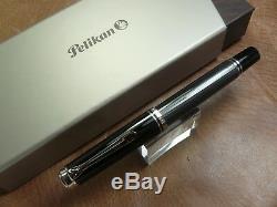 Pelikan M405 Special Edition Stresemann Fountain Pen 14k Fin Nib Neuf Dans La Boîte