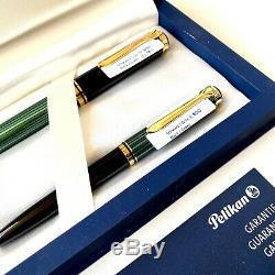 Pelikan Noir / Vert M800 Fountain Pen & K800 Stylo À Bille Box