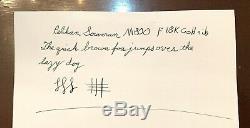 Pelikan Souveran M-800 Vert En Or 18 Carats, F Nib, Boîte D'origine Et Docs