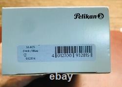 Pelikan Souverän M405 Stylo Plume Avec Boîte Cadeau, Fine Nib, Noir/bleu