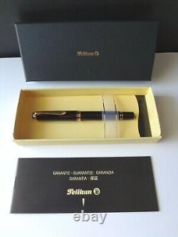 Pelikan Souveran M800 Stylo Fontaine Noir 18k Nib Moyen 18c-750 Boîte Instruction