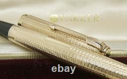 Perfect Parker 51 Gold 9ct Boîte Présidentielle, Boîte Extérieure, Instructions Obb Nib