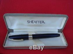 Pfm Sheaffer 3 Snorkel Made In Australia & S Box Jetblackbody Or F Nib