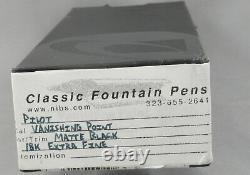 Pilot Capless Vanishing Point Matte Black Fontaine Pen 18kt Ef Nib -new In Box