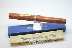 Pipette Pour Stylo Plume Vintage Waterman 78 Woodgrain XL # 8 Nib Minty En Boîte