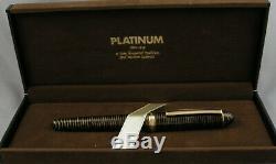 Platinum 3776 Cha-ringu Celluloid & Gold Fountain Pen In Box -1990 18kt Nib Les Environs
