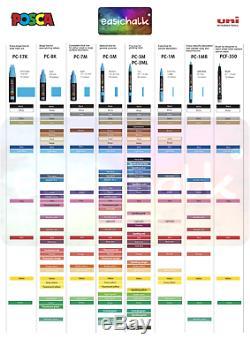 Posca Paint Marker Pc-3m 1.5mm Pen Tissu En Verre Métallique Fine Nib 45 Couleurs