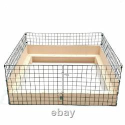 Puppy Dog Whelping Box 1.2m X 1.2m (4ft X 4ft) With Timber Sides & Pig Rails Pen