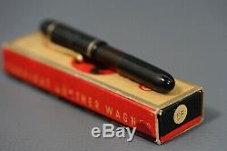 Rare German Rappen Fountain Pen Gunter Wagner Pelikan Ef 14 Or Nib W Boîte