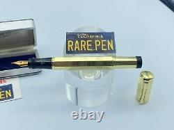 Rare Vintage Aurora Ra3 Faceted Overlay Safety Fountain Pen #3 14k Nib Mint Box