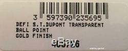 S. T. Dupont Defi Skeleton Stylo À Bille D'or Fini, 405726, Nouveautés Box