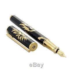 S. T. Dupont Ligne D Fountain Pen, Phoenix, Edition Prestige # 141857 Neuf Dans La Boîte
