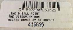 S. T. Dupont Line D Vitruvian Man Ballpoint Pen, 415036, Nouveau Dans La Boîte