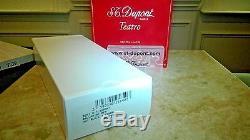 S. T. Dupont Stylo À Bille Defi, Noir Mat Et Chrome Brossé 405712 Nouveauté Dans La Boîte