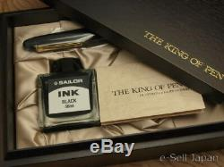 Sailor King Of Pen (kop) Bk Ébonite Plume Moyenne 21k & Boîte En Bois 11-7002-420